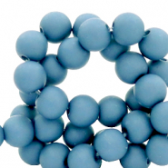 4 mm acrylic beads matt Blue