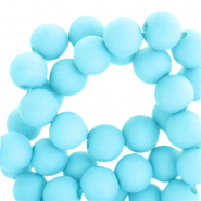 4 mm acrylic beads matt Aqua Blue