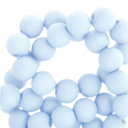 4 mm acrylic beads matt Light Blue