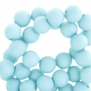 4 mm acrylic beads matt Sky Blue