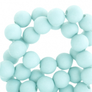 4 mm acrylic beads matt Bleached Aqua Blue