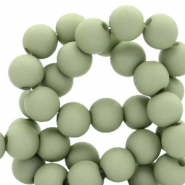 4 mm acrylic beads matt Misty Grey-Green