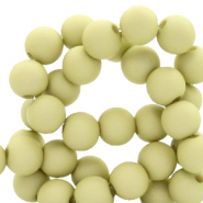 4 mm acrylic beads matt Paradise Green