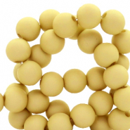 4 mm acrylic beads matt Mustard Green