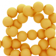 4 mm acrylic beads matt Mineral Yellow