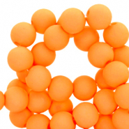 4 mm acrylic beads matt Turmeric Orange