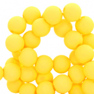 4 mm acrylic beads matt Empire Yellow