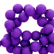 4 mm acrylic beads matt Purple
