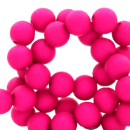 4 mm acrylic beads matt Peacock Pink