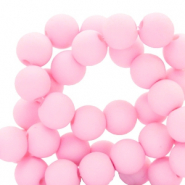 4 mm acrylic beads matt Sweet Light Pink