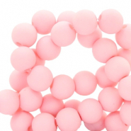 4 mm acrylic beads matt Seashell Pink