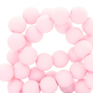 4 mm acrylic beads matt Light Pink