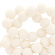 4 mm acrylic beads matt Powder White