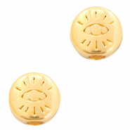 DQ European metal beads with eye 6mm Gold (nickel free)
