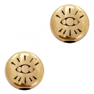 DQ European metal beads with eye 6mm Antique Bronze (nickel free)