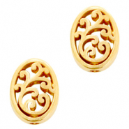 DQ European metal beads oval Gold (nickel free)