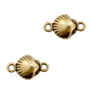 DQ European metal charms connector shell Antik Bronze (nickel free)