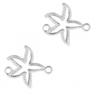 DQ European metal charms connector seastar Antique Silver (nickel free)