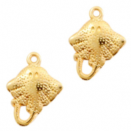 DQ European metal charms stingray Gold (nickel free)