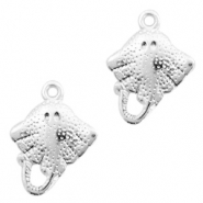DQ European metal charms stingray Antique Silver (nickel free)
