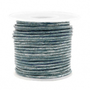 Benefit package DQ leather round 2 mm Vintage Colonial Blue Metallic