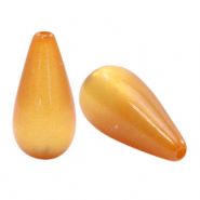 Super Polaris Elements drop shaped beads shiny Caramel Yellow