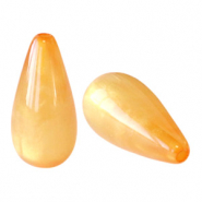 Polaris Elements drop shaped beads Mosso shiny Mineral Yellow