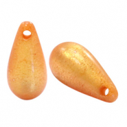 Super Polaris Elements drop shaped charms shiny Caramel Yellow