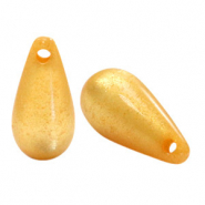Super Polaris Elements drop shaped charms shiny Mineral Yellow