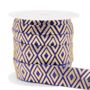Elastic ribbon Art Deco Dark Blue-Gold