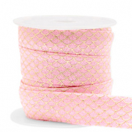 Elastic ribbon mermaid Vintage Pink-Gold