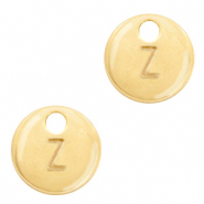 Metal charms initial Z Gold (nickel free)