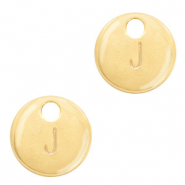 Metal charms initial J Gold (nickel free)