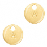 Metal charms initial A Gold (nickel free)