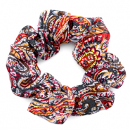 Scrunchie paisley print hair tie Multicolour Red