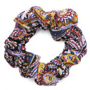 Scrunchie paisley print hair tie Multicolour Blue
