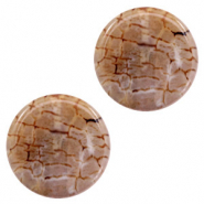 Semi-precious stones agate round Multicolour Brown-White