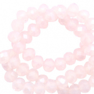 Top faceted beads 3x2mm disc Delicacy Rose Opal-Pearl Shine Coating