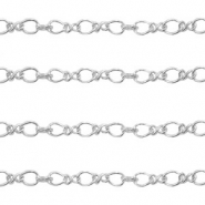 DQ European metal findings belcher chain 2.8mm Antique Silver (nickel free)