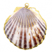 Shell pendant specials Scallop Beige Brown-gold