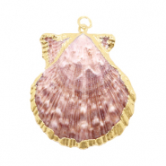 Shell pendant specials Scallop Beige Rose-Gold