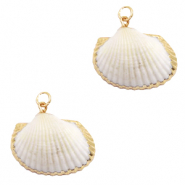 Shell pendant specials Kockel White Beige-Gold