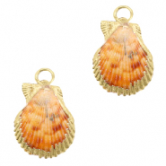 Shell pendant specials Scallop Peachy Orange-Gold