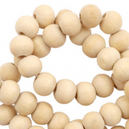 Wooden beads round 8mm Natural (natural wood colour)