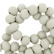 Wooden beads round 6mm Turtledove Grey