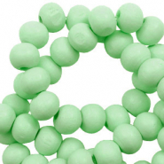 Wooden beads round 6mm Spearmint Green