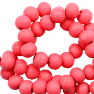Wooden beads round 6mm Calypso Coral Pink