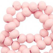 Wooden beads round 6mm Seashell Pink