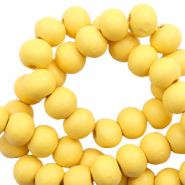 Wooden beads round 6mm Lemon Drop Yellow