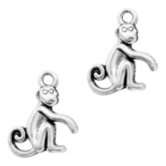 Metal charms monkey Antique Silver (nickel free)